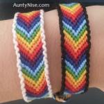 FriendShip Bracelets - Matching Chakra CHEVRON With Border - AuntyNise.com