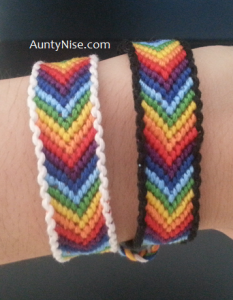 FriendShip Bracelets - Matching Chakra CHEVRON With Border - AuntyNise.com
