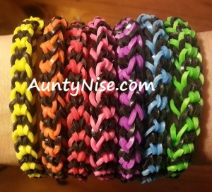 Inverted Fishtail RBL Bracelets (2-Colour_Blk_Colour)