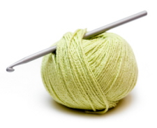 Crochet Hook and Yarn