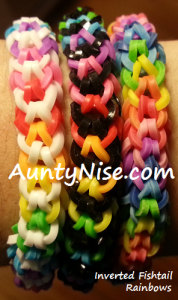 Inverted Fishtail RBL Bracelets (Rainbows) - AuntyNise.com