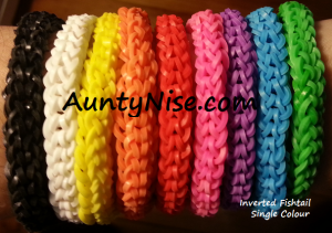 Inverted Fishtail RBL Bracelets (Single Colour) - AuntyNise.com