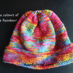 8Ply StockinetteSt Hat_RAINBOW - AuntyNise.Com
