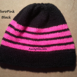 8ply StockinetteSt Hat (FluroPink+Black) - AuntyNise.com