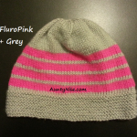 8ply StockinetteSt Hat (FluroPink+Grey) - AuntyNise.com