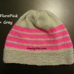 8ply StockinetteSt Hat (FluroPink+Grey) - AuntyNise.com