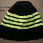 8ply StockinetteSt Hat (FluroYellow+Black) - AuntyNise.com