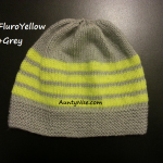 8ply StockinetteSt Hat (FluroYellow+Grey) - AuntyNise.com