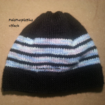 8ply StockinetteSt Hat (MultiPurpleBlue+Black) - AuntyNise.com