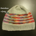 8ply StockinetteSt Hat (Rainbow1+Grey) - AuntyNise.com