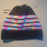 8ply StockinetteSt Hat (Tropicana+Black) - AuntyNise.com