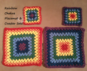 Rainbow Chakra Placemat & Coaster Sets - AuntyNise_com