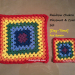 Rainbow Chakra Placemat & Coaster Sets (Red Day-Time) - AuntyNise_com