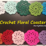 Crochet Floral Coaster (AllColours) - AuntyNise.com