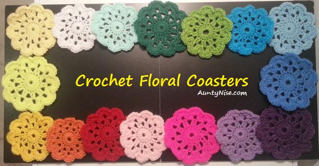 Crochet Floral Coaster (AllColours) - AuntyNise_com