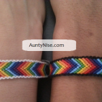 Friend Ship Bracelets-Matching Chakra CHEVRON With Border2 - AuntyNise.com