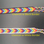Friend Ship Bracelets-Matching Chakra CHEVRON With Border3 - AuntyNise.com