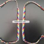 Friend Ship Bracelets-Matching Chakra Stripes With Border3 - AuntyNise.com