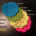 Rainbow Coasters Crochet (4 Fluros) - AuntyNise.com