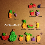 Rainbow Loom Fruits - AuntyNise.com