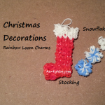 Rainbow Loom Xmas Stocking_Snowflakes - AuntyNise.com