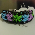 Starbust RBL Bracelets (Blue_Purple_Green) - SIDE - AuntyNise.com