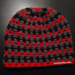 GrannyStitch-Beanie-(Greys + RED) - AuntyNise.com