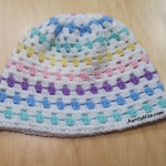 GrannyStitch-Beanie-(White + Pastels) - AuntyNise.com