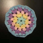Granny Stitch - Circle Coaster - (Pastel Blue) - AuntyNise com