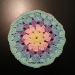 Granny Stitch - Circle Coaster - (Pastel Green) - AuntyNise com