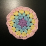 Granny Stitch - Circle Coaster - (Pastel Pink Peach) - AuntyNise com