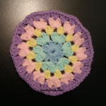 Granny Stitch - Circle Coaster - (Pastel Purple) - AuntyNise com