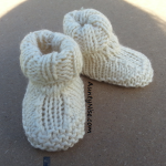 Roll-Down Booties WHITE - AuntyNise.com