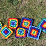 Rainbow Granny Square Blanket - ScatteredSquares - AuntyNise.com