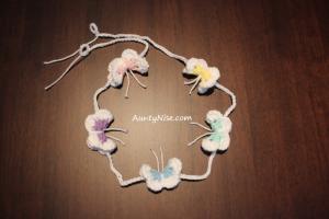 Garland - Butterflies (Pentagon) - PASTELS - AuntyNise.com