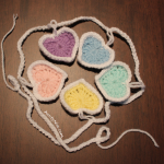 Garland - Hearts - PASTELS (CLOSEUP-ROUND) - AuntyNise.com