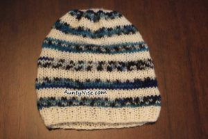 Baby Striped Hat Beanie FLAT - AuntyNise.com